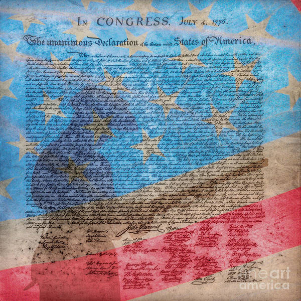 Declaration Of Independence Digital Art - The Start Of It All Ver 2 by Randy Steele