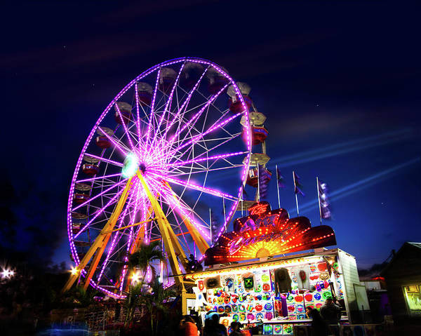 Carnies Photograph - The State Fair Midway by Mark Andrew Thomas