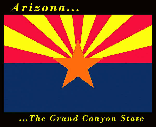 Painting - The State Flag Of Arizona by Floyd Snyder