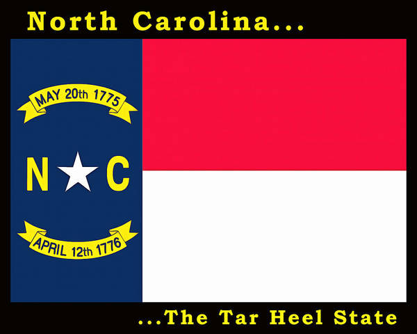 Painting - The State Flag Of North Carolina by Floyd Snyder