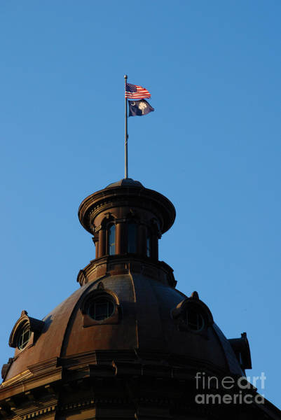Photograph - The State Flag Of South Carolina In Columbia Sc by Susanne Van Hulst