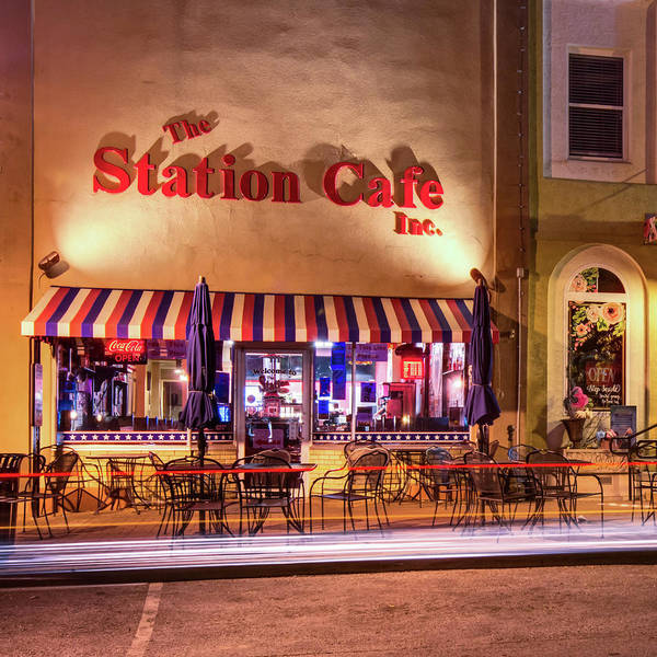 Photograph - The Station Cafe - Bentonville Arkansas - Color Edition by Gregory Ballos