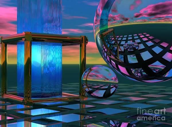 Digital Art - The Station by Sandra Bauser Digital Art