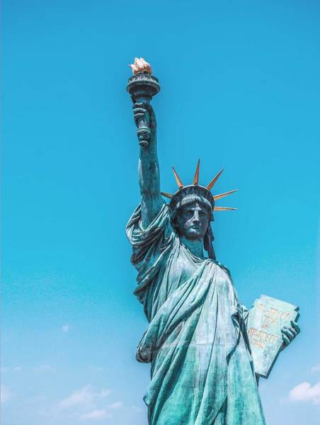 Painting - The Statue Of Liberty In New York City 2 by Celestial Images