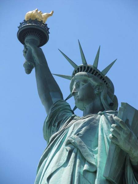 Painting - The Statue Of Liberty In New York City 4 by Celestial Images