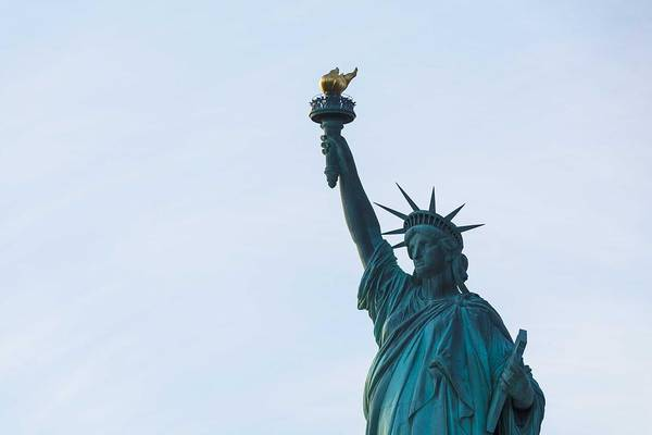 Painting - The Statue Of Liberty In New York City by Celestial Images