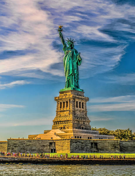 Photograph - The Statue Of Liberty by Nick Zelinsky
