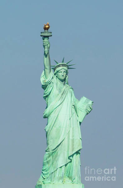 Wall Art - Photograph - The Statue Of Liberty On Liberty Island In New York Harbor by American School