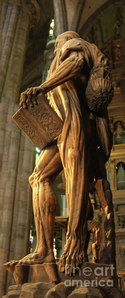 Photograph - The Statue Of St Bartholomew In Milan Cathedral by Gregory Dyer