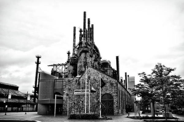Photograph - The Steel Mill At Bethlehem Pa In Black And White by Bill Cannon