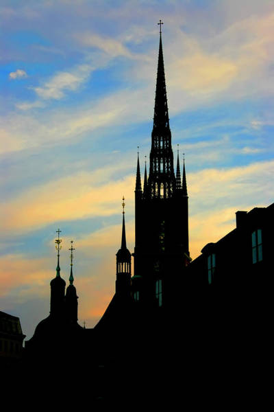 Photograph - The Steeples Of Stockholm by KG Thienemann