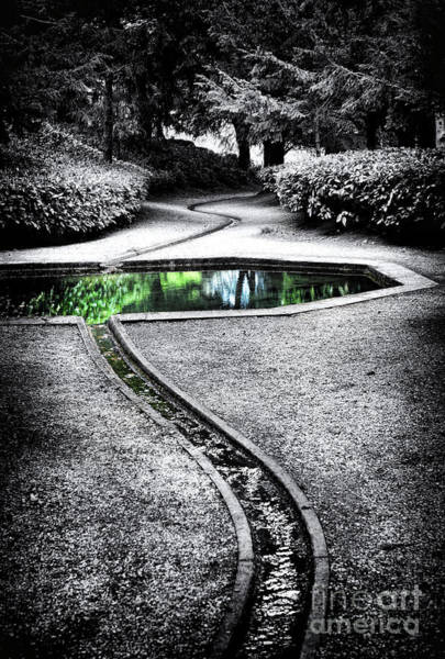 English Garden Photograph - The Still Pool by Tim Gainey