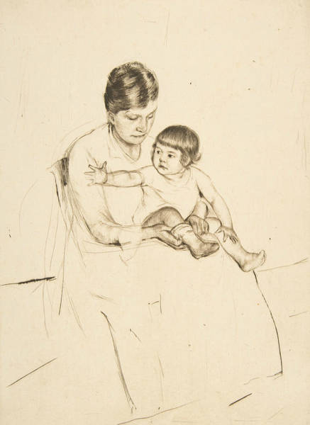 Relief - The Stocking by Mary Cassatt
