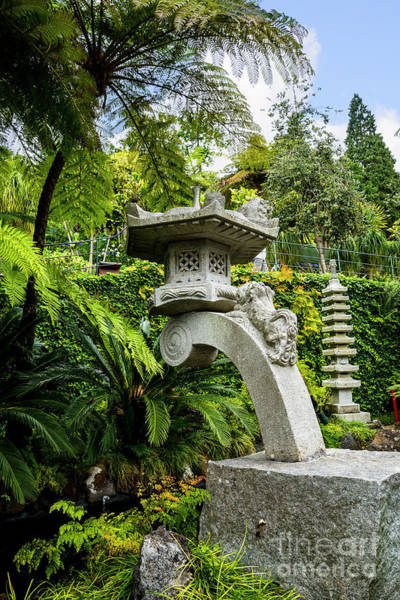 Photograph - The Stone Lantern by Brenda Kean