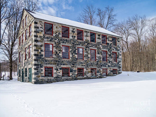 Photograph - The Stone Mill Enfield Nh by Edward Fielding