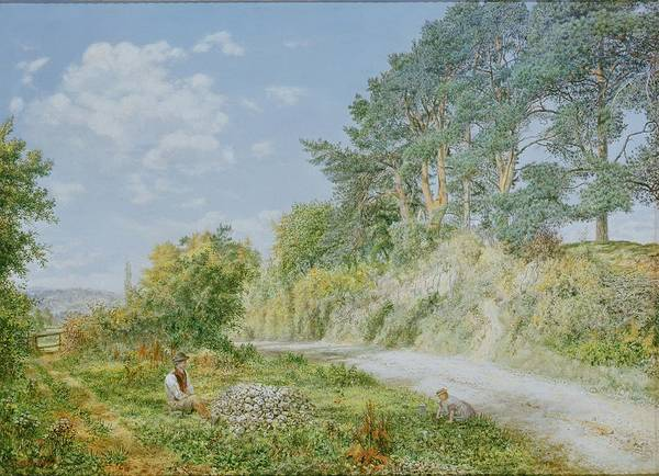 Oil Industry Painting - The Stonebreaker by George William Mote