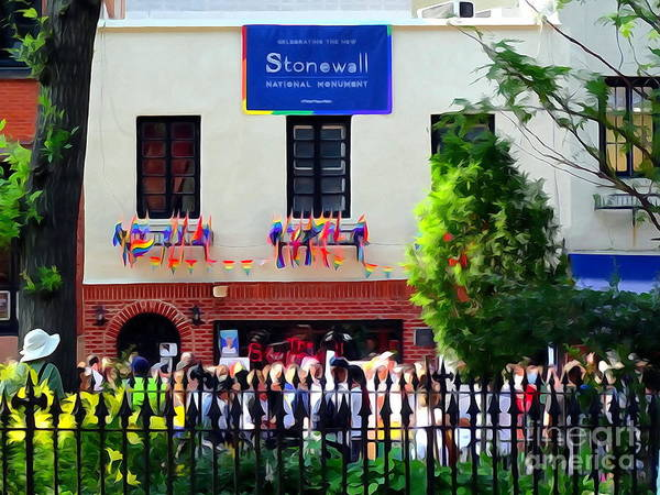 Gay Pride Flag Photograph - The Stonewall Inn National Monument by Ed Weidman