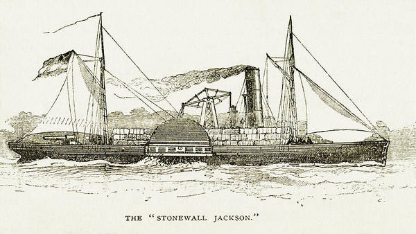 Wall Art - Photograph - The Stonewall Jackson Steamship - Toned by Paul W Faust - Impressions of Light