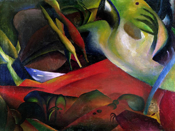 The Blue Rider Wall Art - Painting - The Storm by August Macke