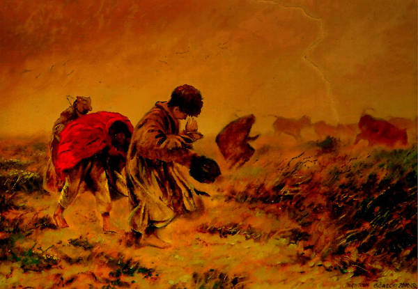 Clear Coat Wall Art - Painting - The Storm by Henryk Gorecki
