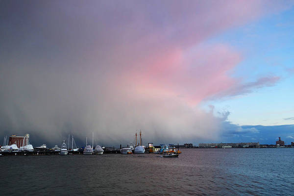Photograph - The Storm Pushing Out Of East Boston Ma by Toby McGuire