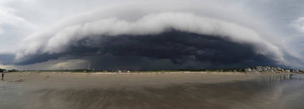 Photograph - The Storm Rolling In To Good Harbor Beach Gloucester Ma Panorama by Toby McGuire