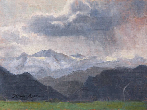 Foothills Wall Art - Painting - The Storms Beyond by Anna Rose Bain