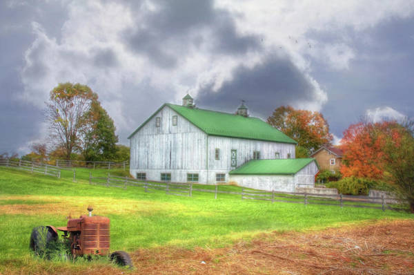 Autumn Barn Digital Art - The Storms Coming by Sharon Batdorf