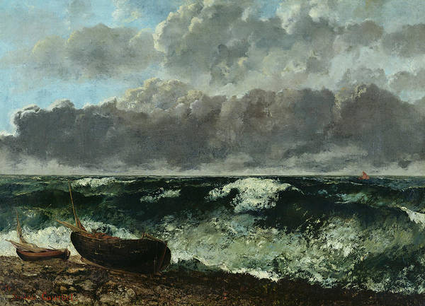 Wall Art - Painting - The Stormy Sea by Gustave Courbet