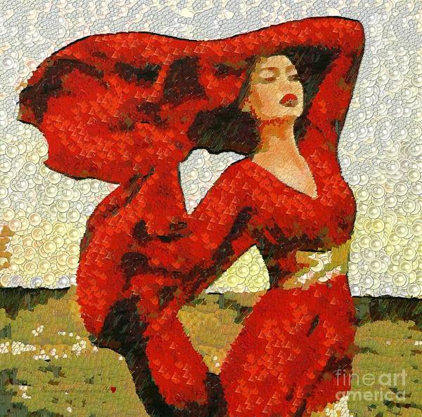 Painting - The Story Of A Beautiful Red In The Mix by Catherine Lott