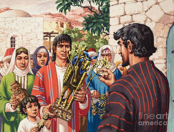 Hebrew Painting - The Story Of Jacob by Pat Nicolle