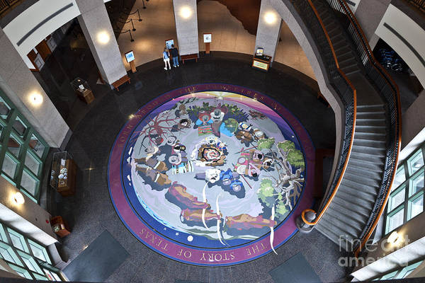 Bullock Texas State History Museum Photograph - The Story Of Texas Mural by Inga Spence