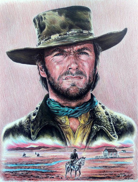 Clint Eastwood Drawing - The Stranger  New Version by Andrew Read