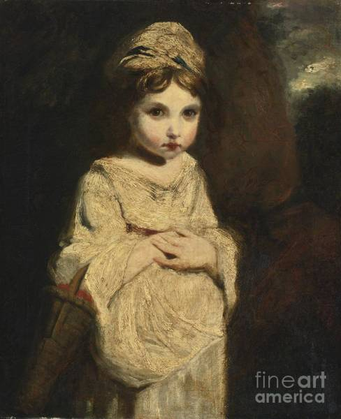 Painting - The Strawberry Girl by Studio of Sir Joshua Reynolds