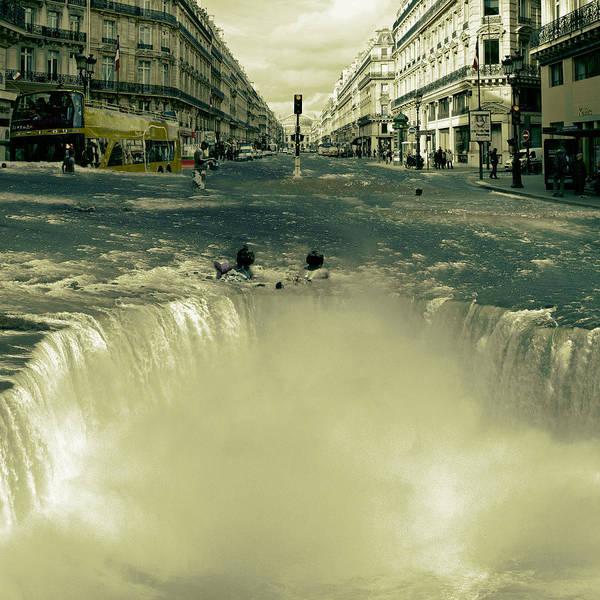Digital Image Digital Art - The Street Fall by Marian Voicu