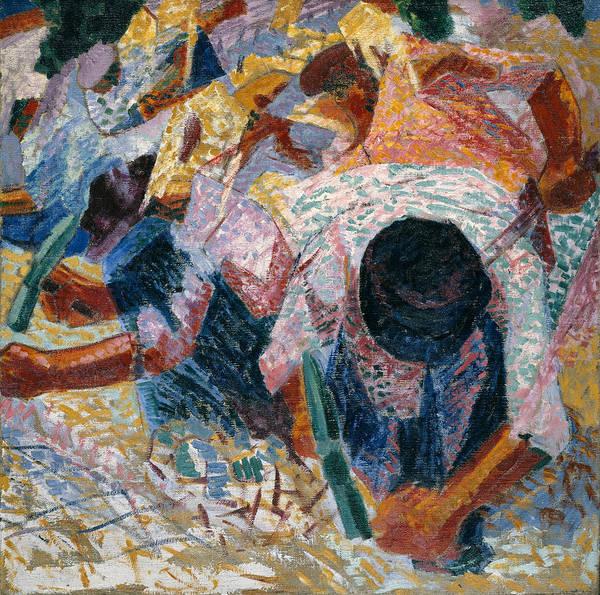 Boccioni Wall Art - Painting - The Street Pavers by Umberto Boccioni
