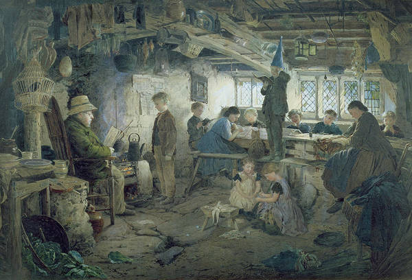 Classroom Painting - The Strict School Master by William Jabez Muckley