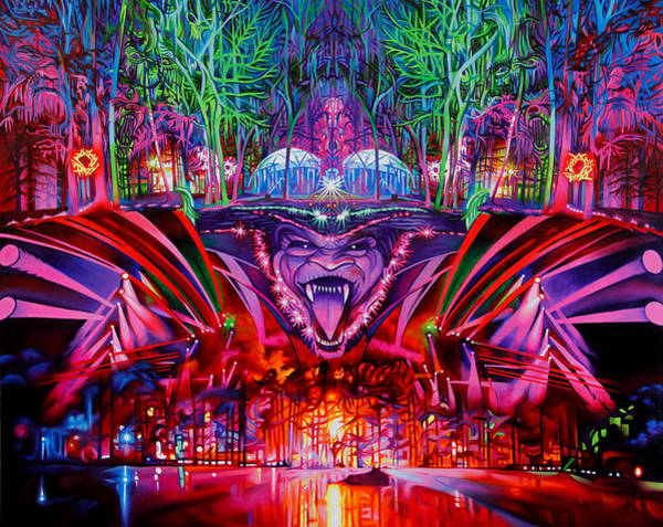 Wall Art - Painting - The String Cheese Incident-hulaween by Joshua Morton