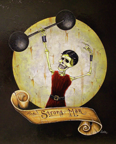 Tattoo Flash Painting - The Strong Man by Matthew Powell