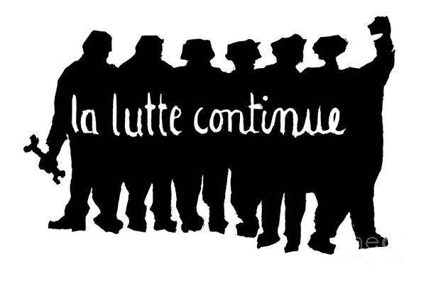 Unity Drawing - The Struggle Continues by French School