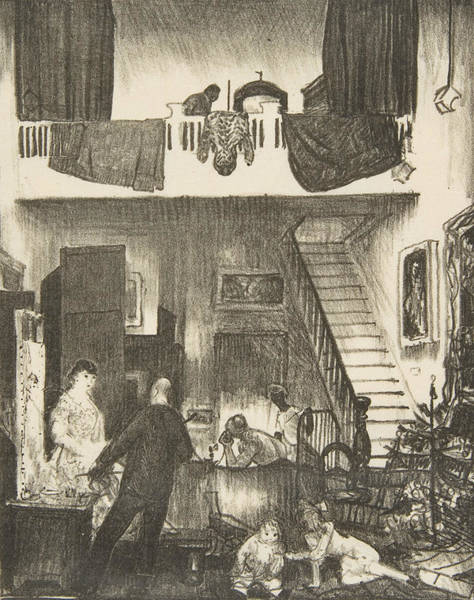 Relief - The Studio, Christmas 1916 by George Bellows
