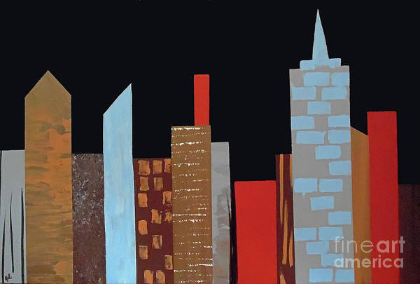 Painting - The Subdued City IIi by Jilian Cramb - AMothersFineArt