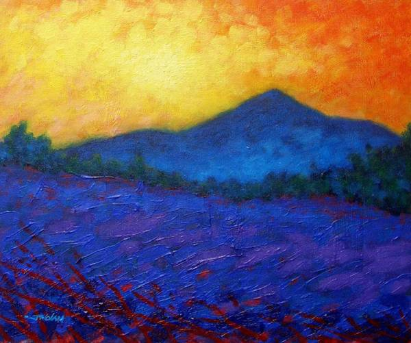 Yule Painting - The Sugar Loaf - County Wicklow by John  Nolan