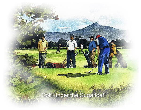 Painting - The Sugarloaf Four Ball by Val Byrne