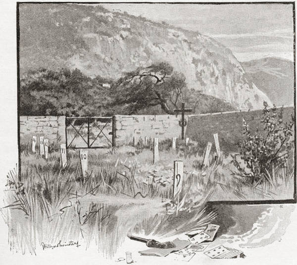 Gravestone Drawing - The Suicide S Cemetery, Monte Carlo by Vintage Design Pics