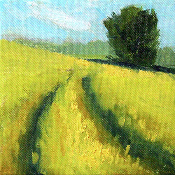 Prairie Grass Painting - The Summer Field by Nancy Merkle