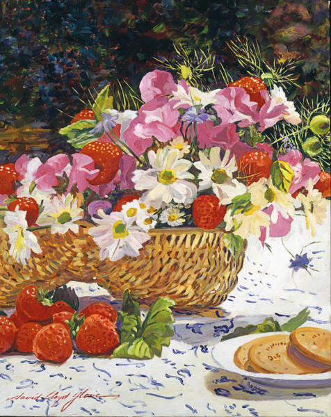 Wall Art - Painting - The Summer Picnic by David Lloyd Glover