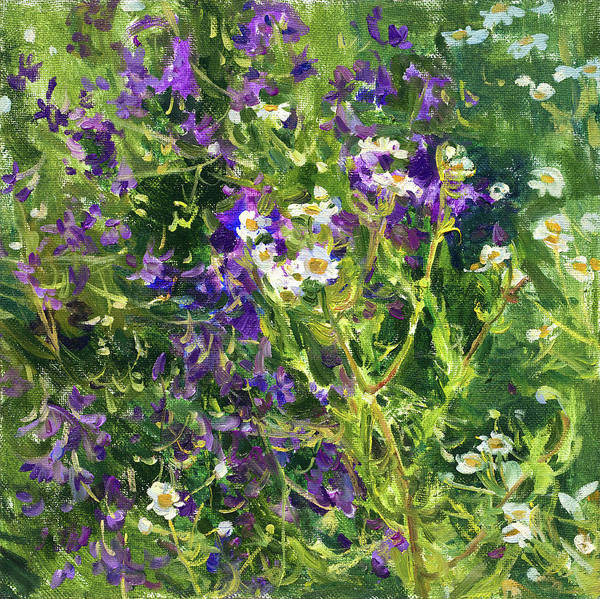 Wall Art - Painting - The Summer by Victoria Kharchenko