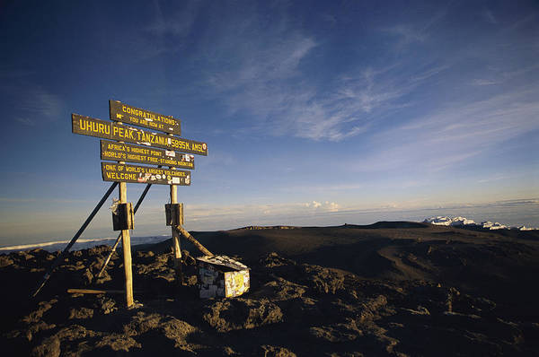 Kilimanjaro Photograph - The Summit Of Mt. Kilimanjaro, Africas by Bobby Model