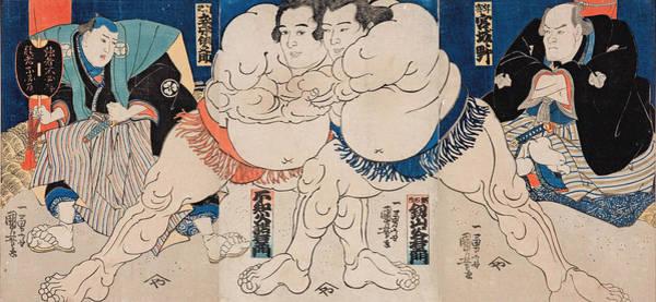Confident Painting - The Sumo Wrestlers Shiranui Dakuemon by Utagawa Yoshifuji